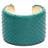 Charles And Perry Snake Skin Signature Cuff Teal