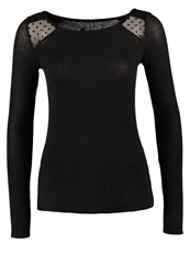 Naf Naf Long Sleeved Top Gris Anthracite