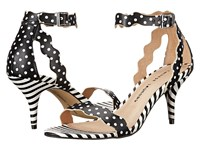 Chinese Laundry Rubie Scalloped Sandal Black Polka Dot High Heels