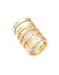 Theodora And Callum Embellished Stacked Ring Set Gold