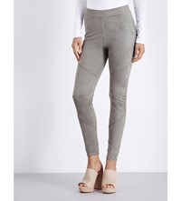 Hot Mess Skinny High Rise Suedette Leggings Army