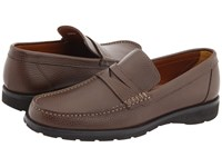 A. Testoni Penny Loafer Mocassin Coffee Men's Slip On Shoes Brown