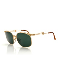Christian Lacroix Vintage Wrap Detail Sunglasses Gold