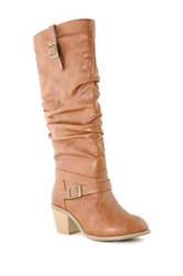 Anna Sugar Slouch Buckle Boot Brown