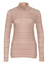 Marc Cain High Neck Lace Top Sahara
