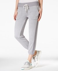 Calvin Klein Performance Heathered Cropped Sweatpants Stone