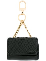 Tory Burch Small 'Fleming' Keyring Black