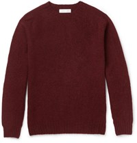Several Miami Melange Wool Sweater Burgundy