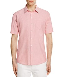 Zachary Prell Cooperman Regular Fit Micro Stripe Button Down Shirt Pink