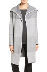 Nordstrom Women's Collection Mixed Rib Cashmere Open Front Cardigan