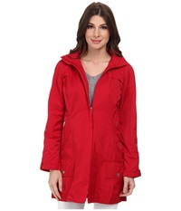 Rainforest Packable Coat W Roll Sleeve Carmine Women's Coat Red