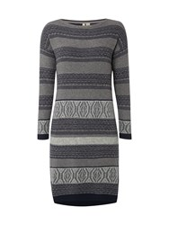White Stuff Seafoam Jaquard Dress Grey