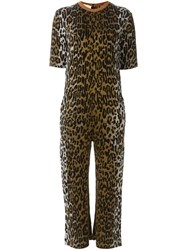 Stella Mccartney Leopard Print Jumpsuit Brown