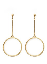 Kenneth Jay Lane Long Post Hoop Earrings Metallic