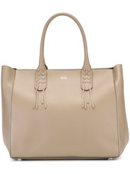 Steffen Schraut Handle Detail Tote Bag Nude And Neutrals
