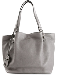 Tod's Small 'Flower' Tote Grey
