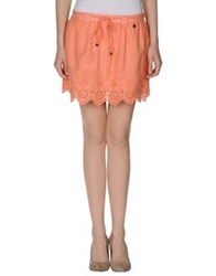 Pepe Jeans Mini Skirts Salmon Pink
