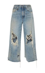 R 13 R13 Camille Leyton Cropped Jeans Light Wash