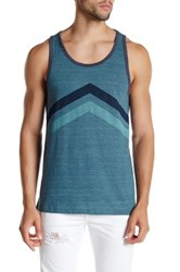 Threads For Thought Chevron Tank Blue