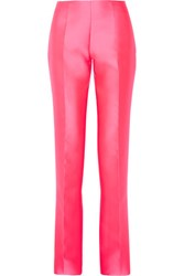 Antonio Berardi Satin Flared Pants Bright Pink