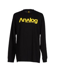 Analog Topwear T Shirts Men Black