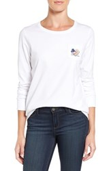 Vineyard Vines Women's 'Turkey Whale' Long Sleeve Cotton Graphic Tee
