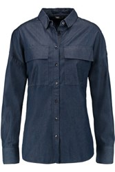 Tibi Neo Chambray Shirt Dark Denim