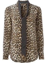 Equipment By Kate Moss Leopard Print Shirt Nude And Neutrals