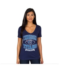 Authentic Nfl Apparel Women's Tennessee Titans Football Logo T Shirt Navy