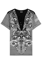 Just Cavalli Printed Top With Lace Up Front Gr. S