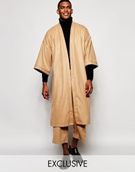 Reclaimed Vintage Winter Kimono Brown