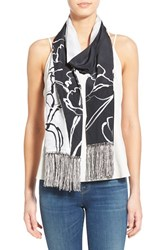 Women's Badgley Mischka Fringe Skinny Silk Scarf