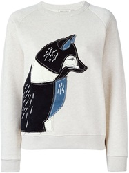 Maison Kitsune Maison Kitsune Fox Applique Sweatshirt Nude And Neutrals