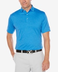Callaway Men's Big And Tall Heathered Golf Polo Magnetic Blue