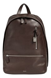 Men's Skagen 'Kroyer 2.0' Leather Backpack Brown Espresso