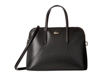 Lacoste Chantaco Zip Around Top Handle Satchel Black Satchel Handbags