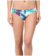 Roxy Line It Up 70S Pants Bottom Norfolk Tropical Diamond Blue Women's Swimwear