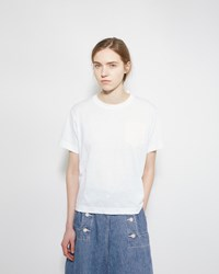 Sacai Lace Back Tee White