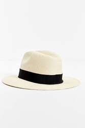 Urban Outfitters Straw Panama Hat Black
