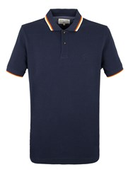 Racing Green Clement Tipped Pique Polo Navy