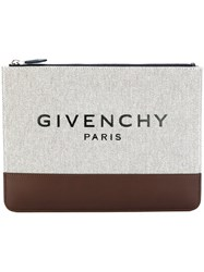 Givenchy Printed Logo Pouch Nude And Neutrals