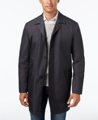 Kenneth Cole New York Men's Rosco Microdot Water Repellent Raincoat Charcoal