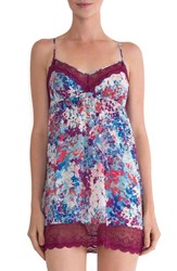 In Bloom By Jonquil Women's Lace Trim Print Chemise