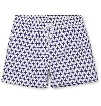 Frescobol Carioca Arpoador Short Length Printed Swim Shorts Blue