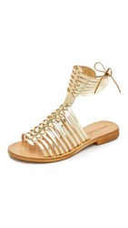 Cocobelle Ibiza Gladiator Sandals Gold