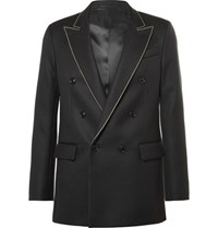Acne Studios Black Joseph Double Breasted Embroidered Wool Twill Blazer Black