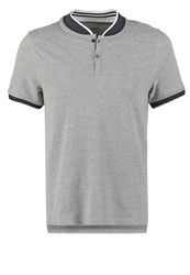 Kiomi Slim Fit Polo Shirt Grey Melange Mottled Grey
