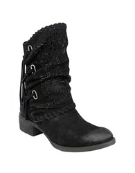 Naughty Monkey Vamp Phyer Suede Boots Black