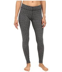 Smartwool Midweight Wool Pattern Bottom Black Women's Casual Pants