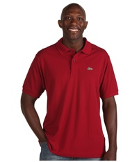 Lacoste L1212 Classic Pique Polo Shirt Bordeaux Men's Short Sleeve Knit Burgundy